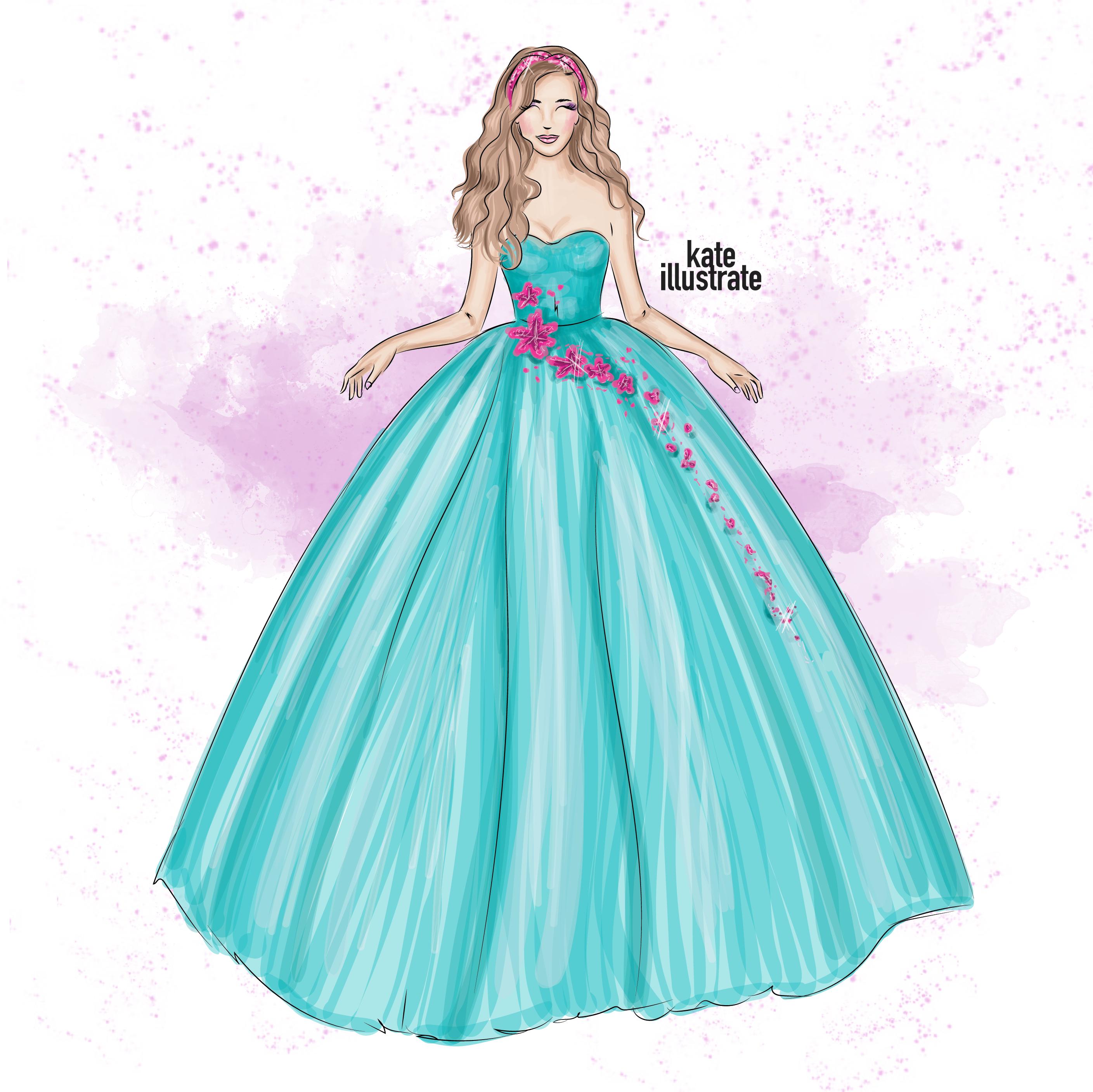 kateillustrate princess illustration