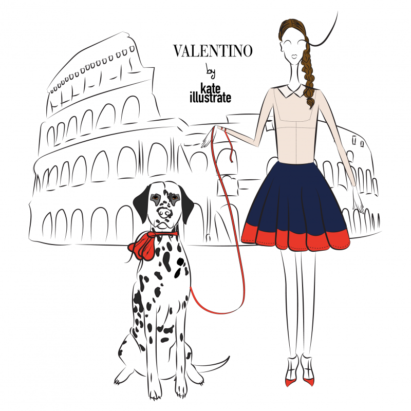 fashion-illustration-kateillustrate-valentino-rome-colosseum