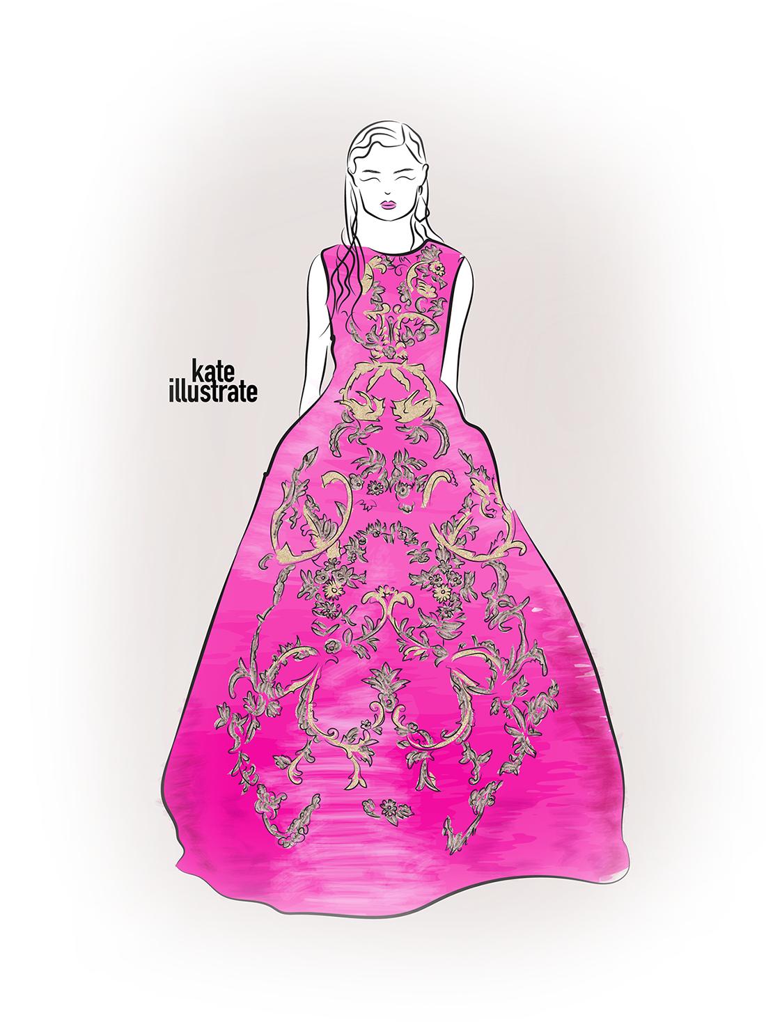 fashion-illustration-kateillustrate-oscar-de-la-renta-blog