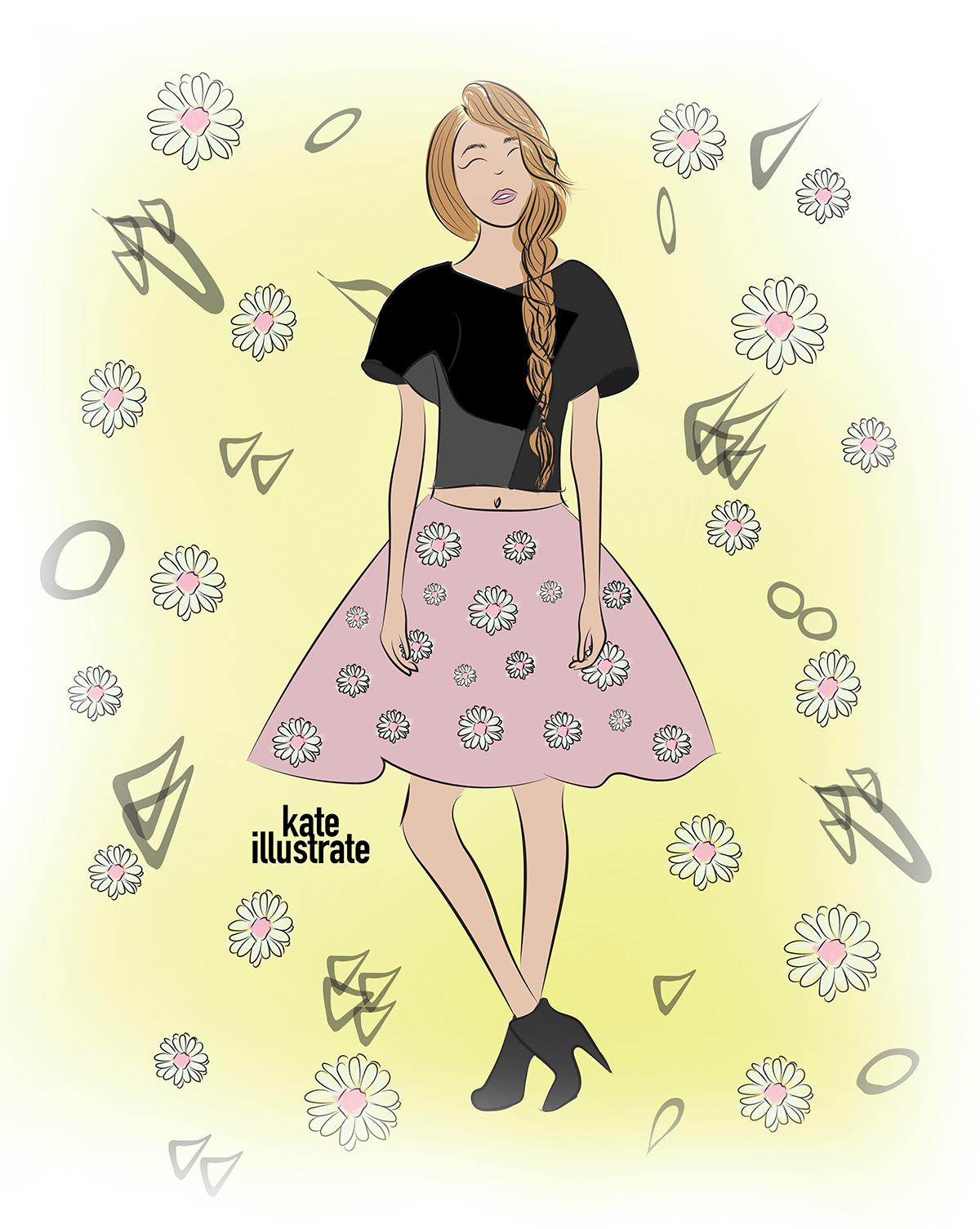 fashion-illustration-kateillustrate-camomiles