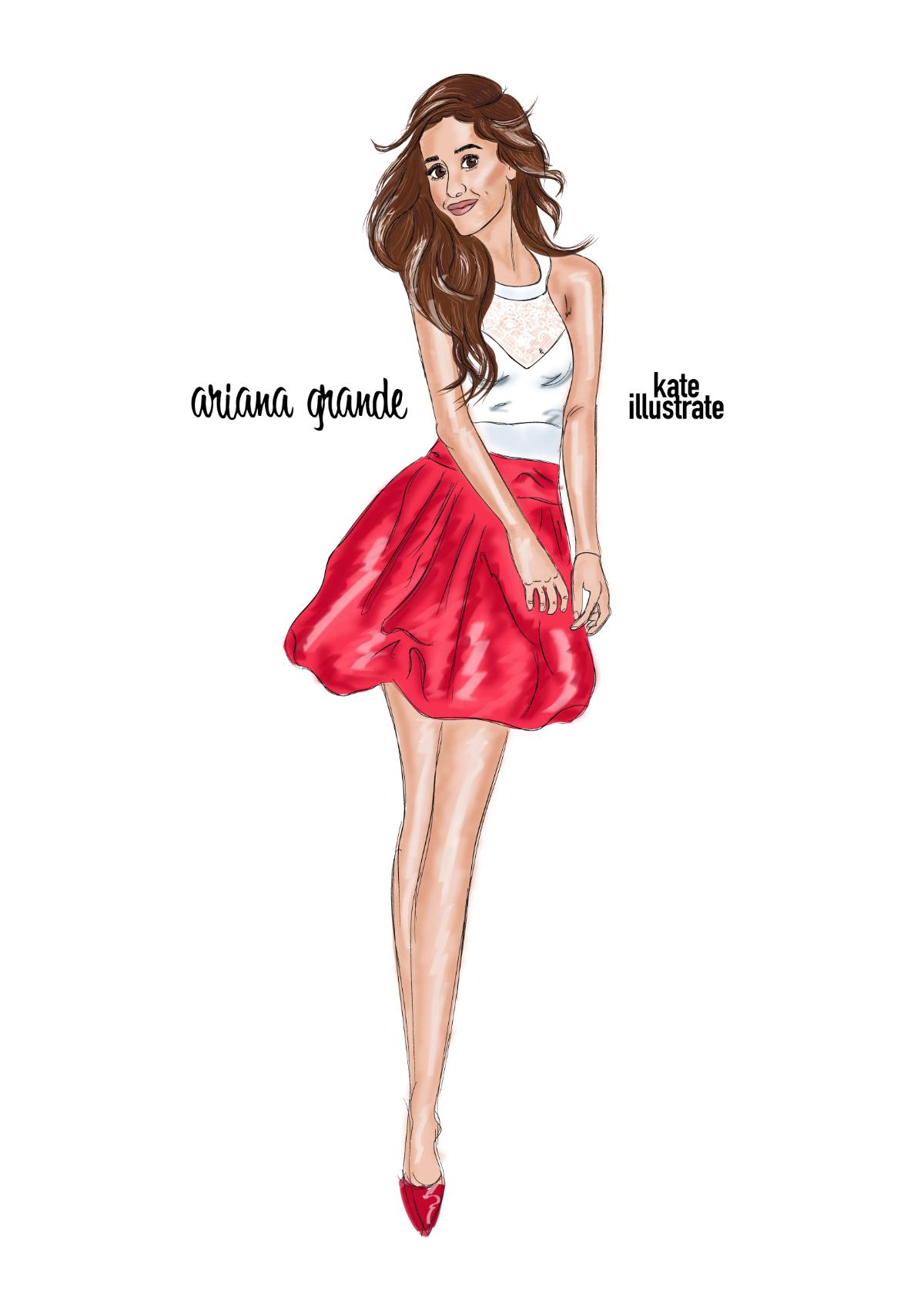fashion-illustration-kateillustrate-ariana-grande