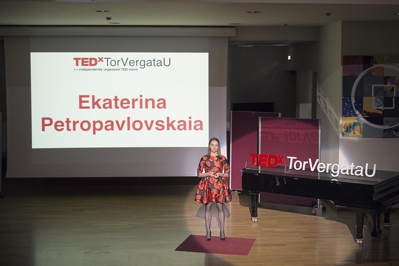 ekaterina petropavlovskaia TEDx stage