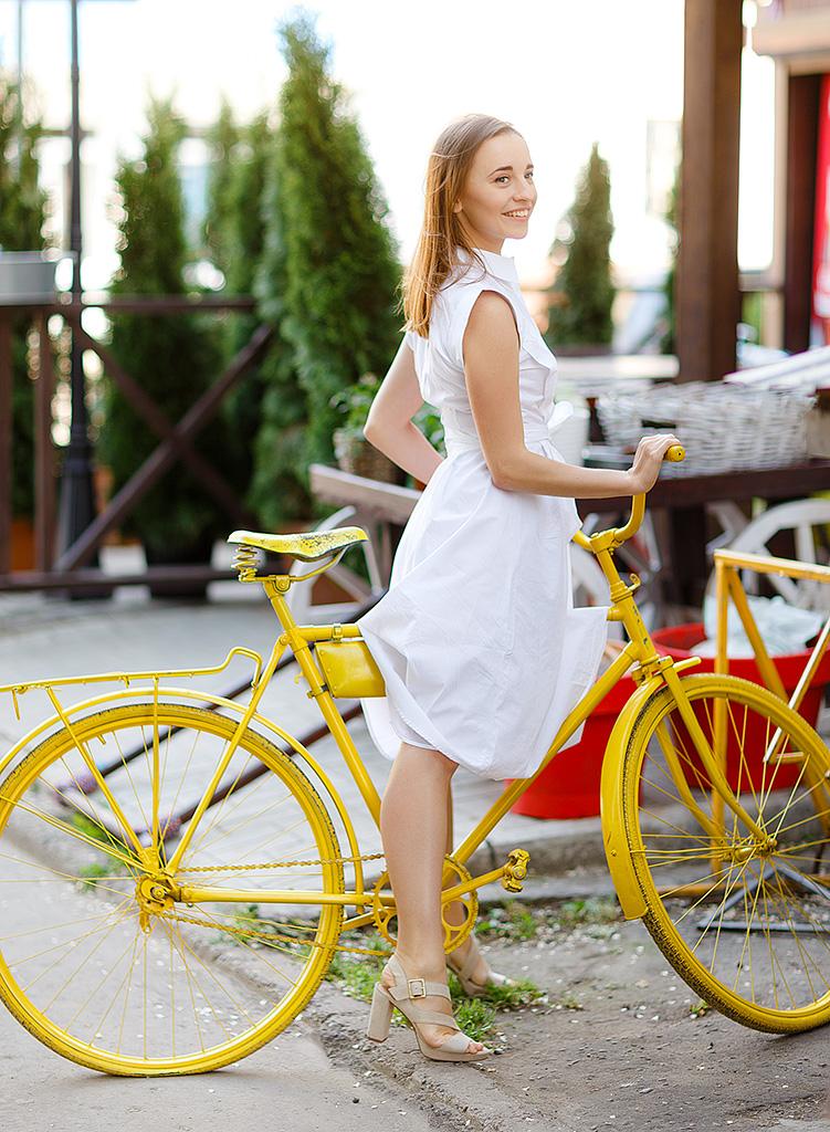 kateillustrate for lost ink white dress
