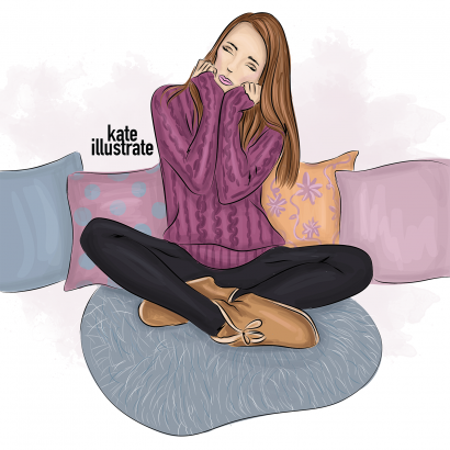 cozy home fashion illustration