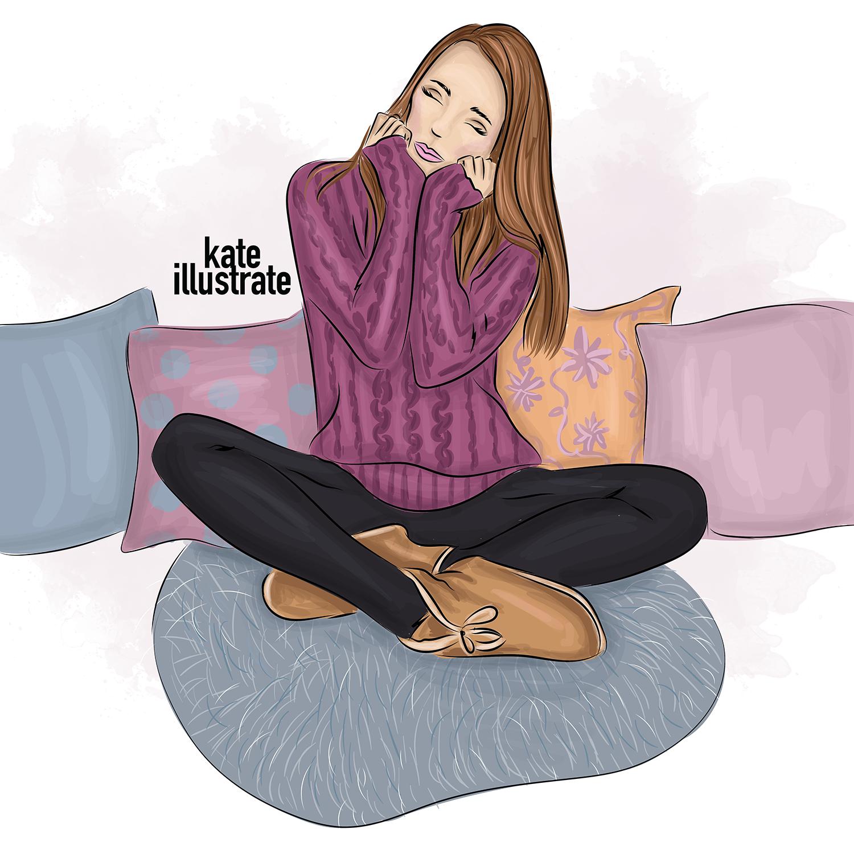 cozy home fashion illustration