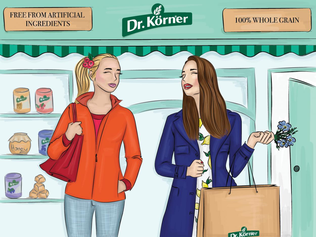 kateillustrate for Dr Korner shop illustration