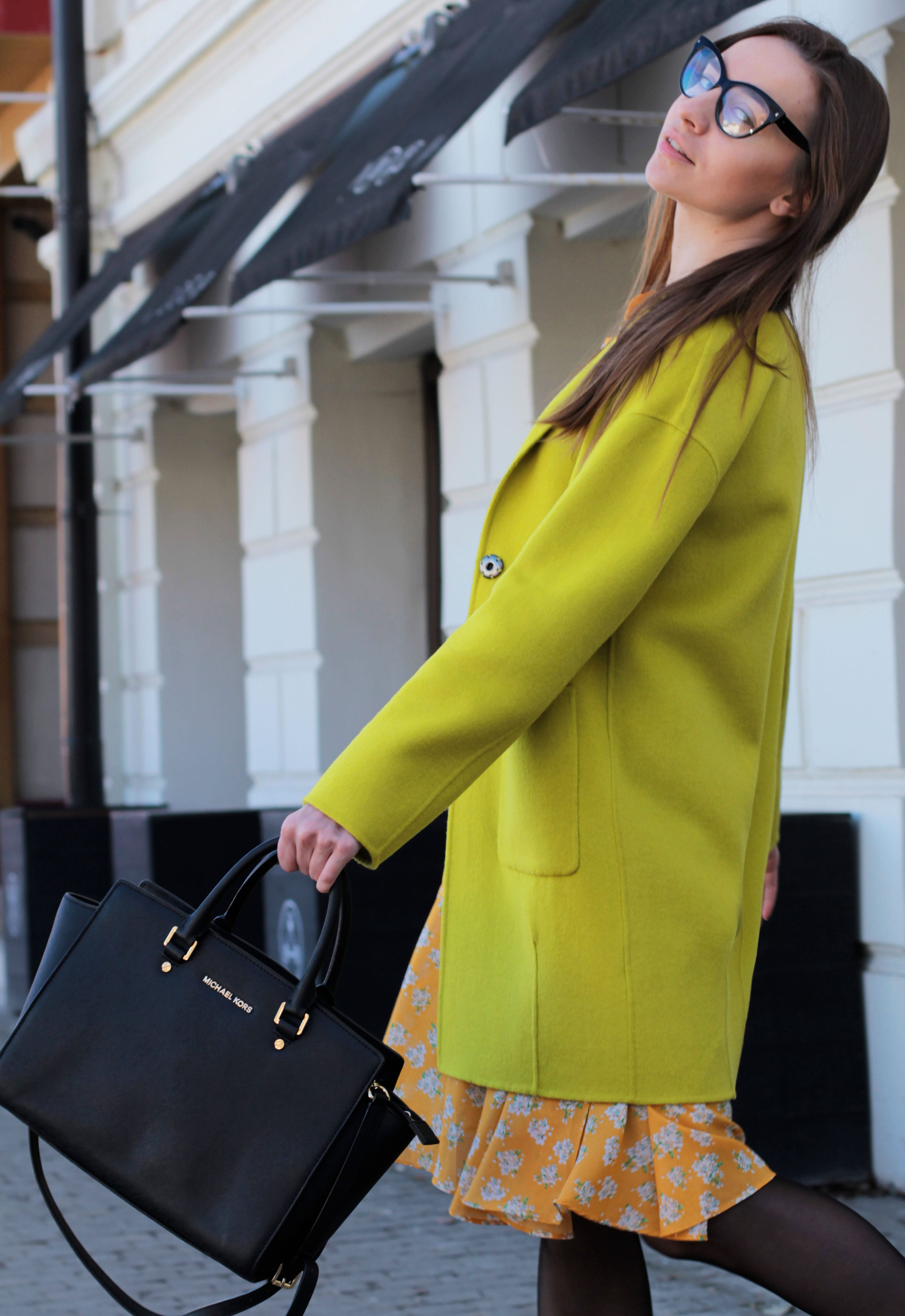 cultsome yellow dress lime coat tuzzi kateillustrate