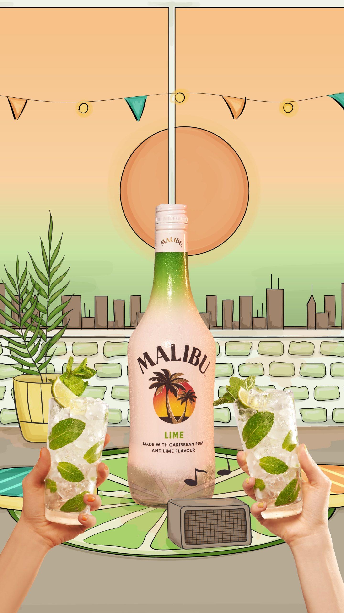 kateillustrate for Malibu Rum